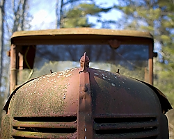 Rusty Truck in Midcoast Maine